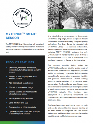 MYTHINGS Smart Sensor